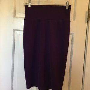 Lularoe Cassie Pencil skirt.  Purple. XS
